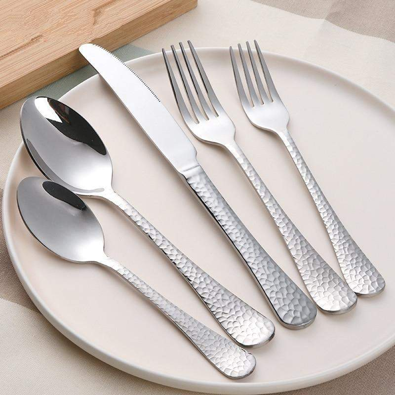 5 piece 18/10 Stainless Steel flatware Service set - TOROS - COOKWARE BAKEWARE & GRILL STORE