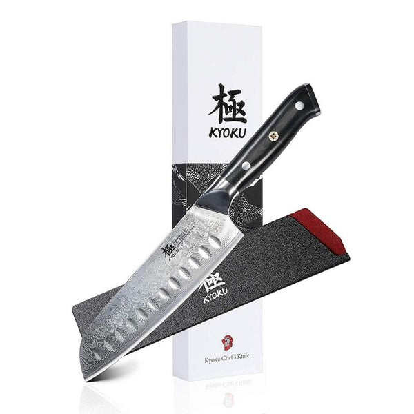 7 Inch VG10 67 Layers Damascus Steel Japanese Santoku Knife with Sheath & Case - TOROS - COOKWARE BAKEWARE & GRILL STORE