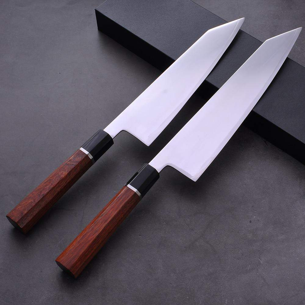 8 inch / 9.5 inch Japanese HAP40 Steel Kiritsuke Chef's Knife with Octagonal Wooden Handle - TOROS - COOKWARE BAKEWARE & GRILL STORE