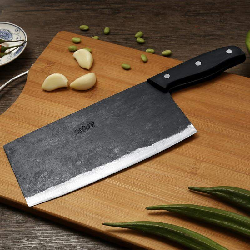 8 Inch Traditional Handmade Chinese Style Cleaver Knife - TOROS - COOKWARE BAKEWARE & GRILL STORE