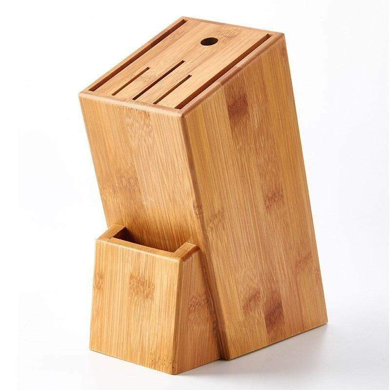 High Quality Bamboo Wood Kitchen Knife Holder - 7 Slots - TOROS - COOKWARE BAKEWARE & GRILL STORE