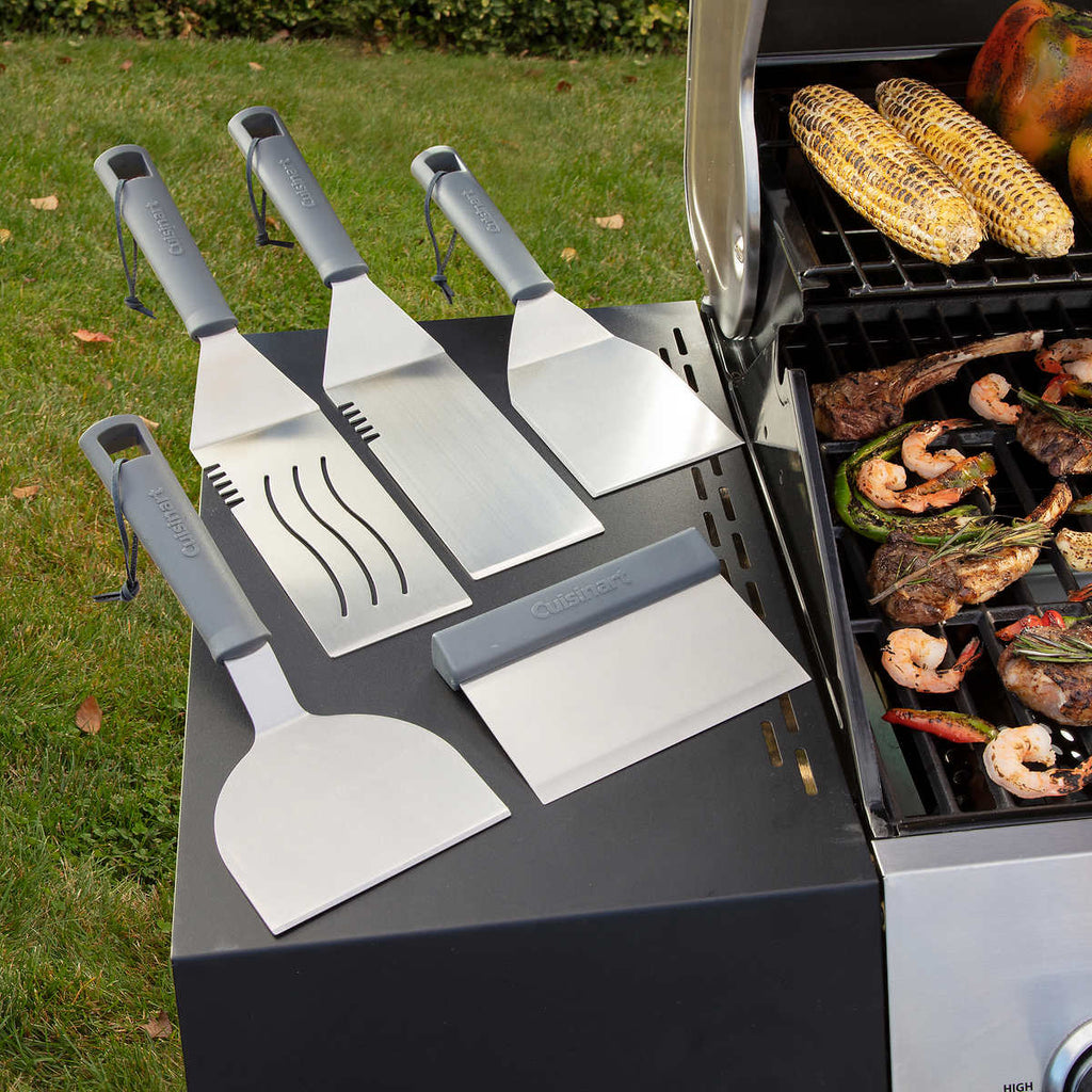 5-piece Stainless Steel BBQ Tool Set by Cuisinart