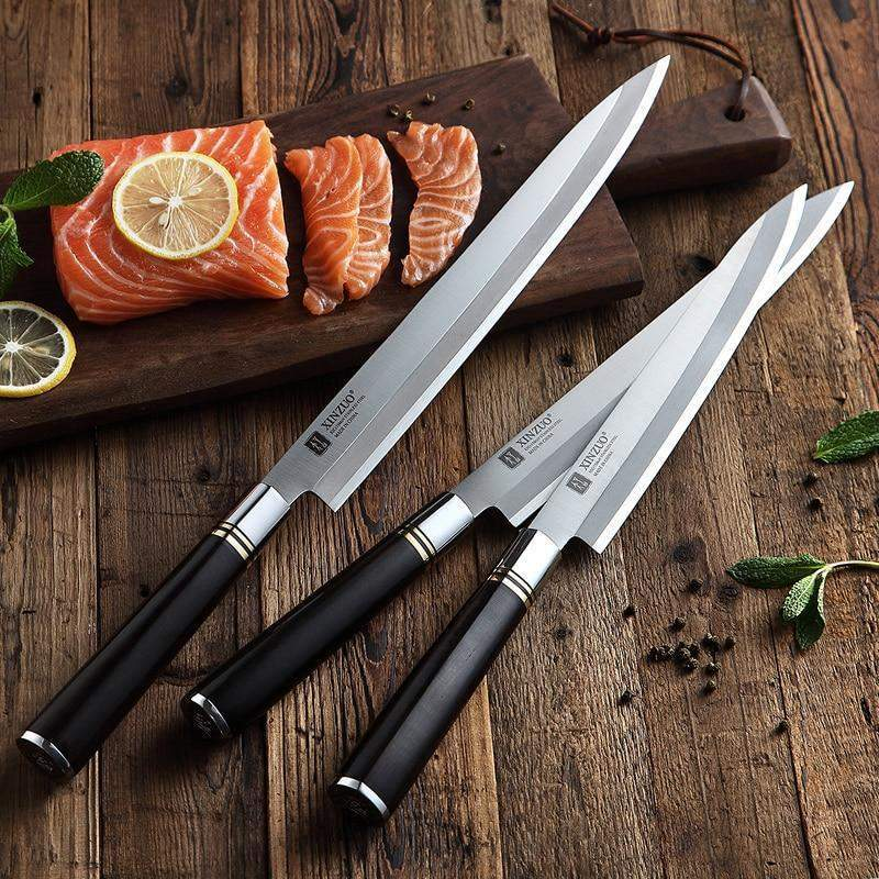 Pro Japanese Yanagiba X5Cr15MoV Stainless Steel Sushi & Sashimi Knife with Wooden Handles - TOROS - COOKWARE BAKEWARE & GRILL STORE