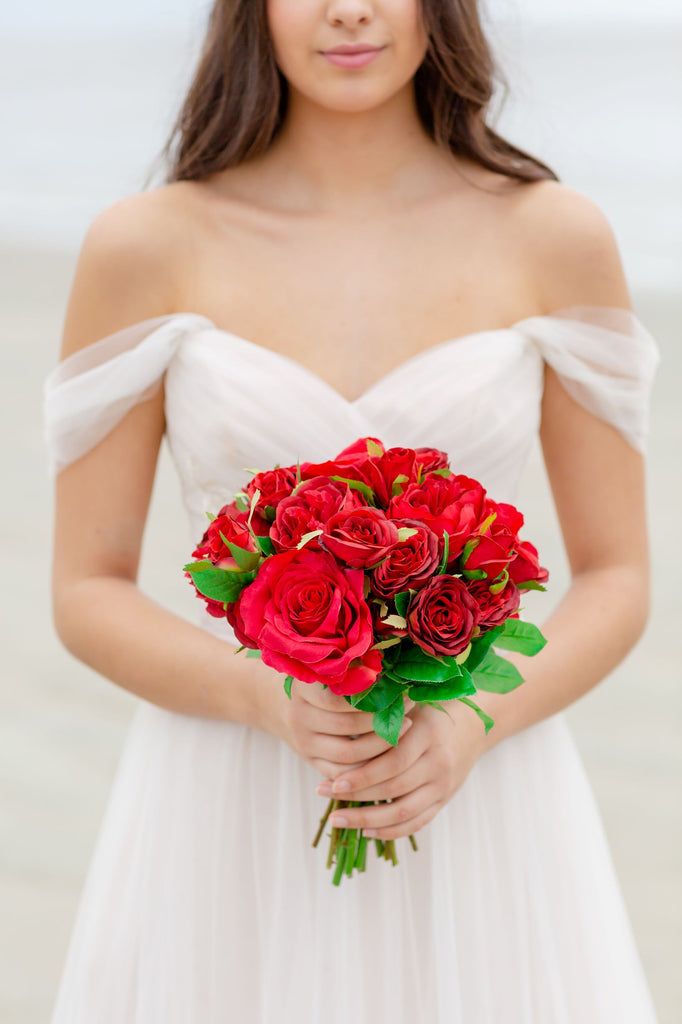 Valentina Collection - Bridesmaid Bouquet -All Red