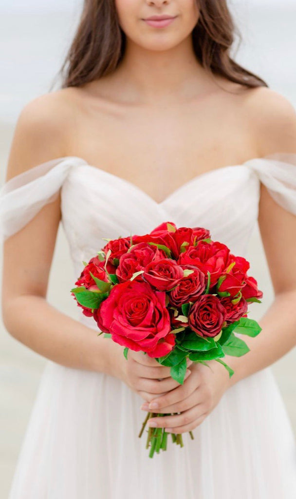 Valentine collection - Bridesmaid Bouquet - All Red (SAMPLE)