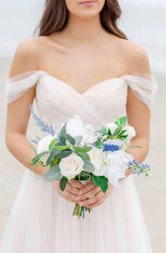 Venetian Something Borrowed Blue Bridesmaid Bouquet (SAMPLE)