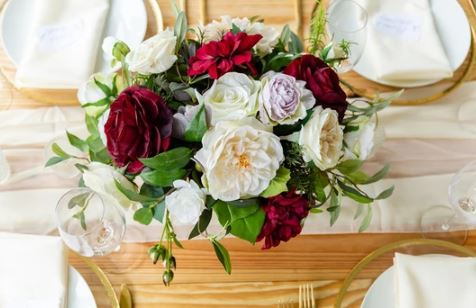 Tuscany Burgundy Centerpiece (SAMPLE)