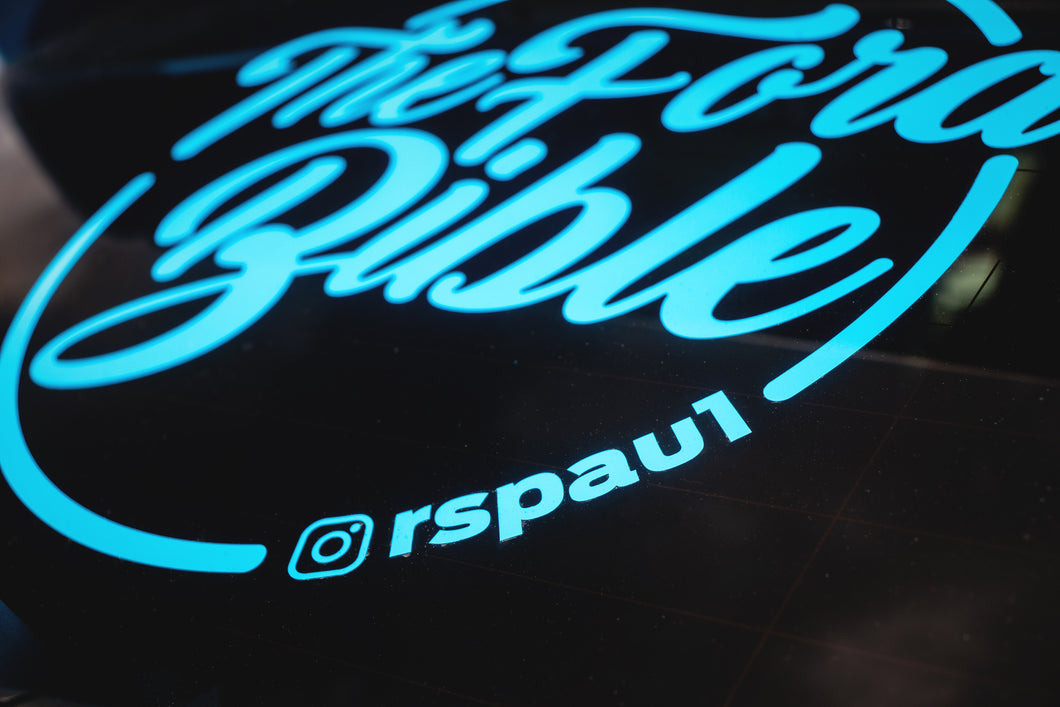 Large Curved Sticker With Instagram Name
