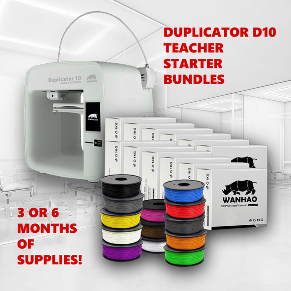 Wanhao Duplicator 10 + Teacher Starter Bundle - Wanhao University Store