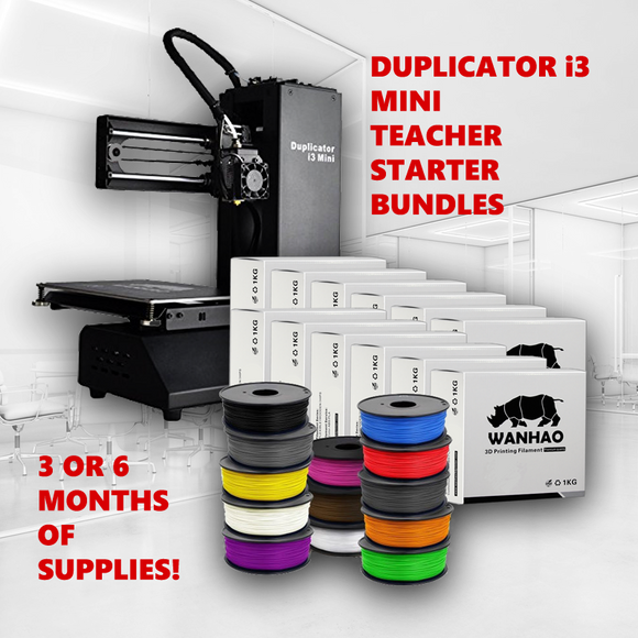 Wanhao I3 Mini + Teacher Starter Bundle - Wanhao University Store