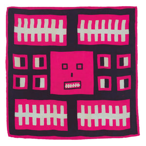 Square Face Silk Flag