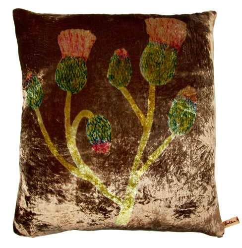 Bronze Velvet Cirsium Cushion