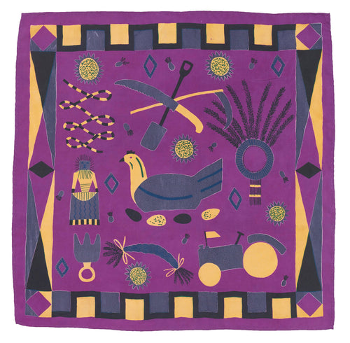 Purple Rural Life Scarf