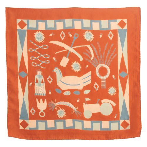 Rust Rural Life Scarf