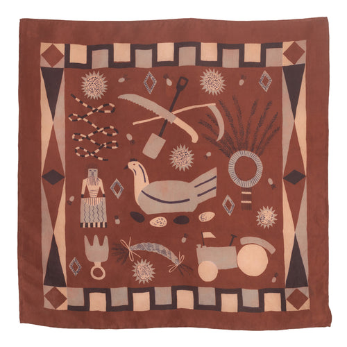 Brown Rural Life Scarf