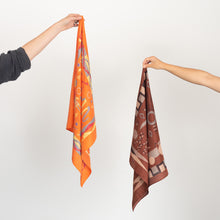 Load image into Gallery viewer, Brown Rural Life Scarf