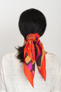 Red Rural Life Scarf