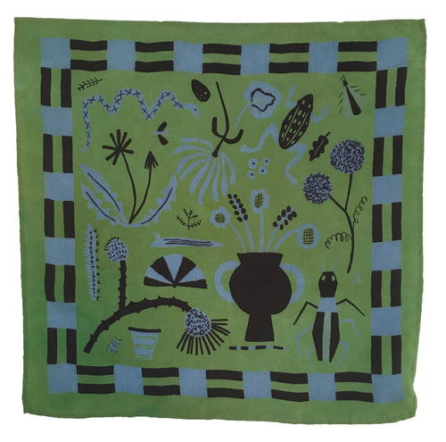 Field Notes Green Silk Scarf