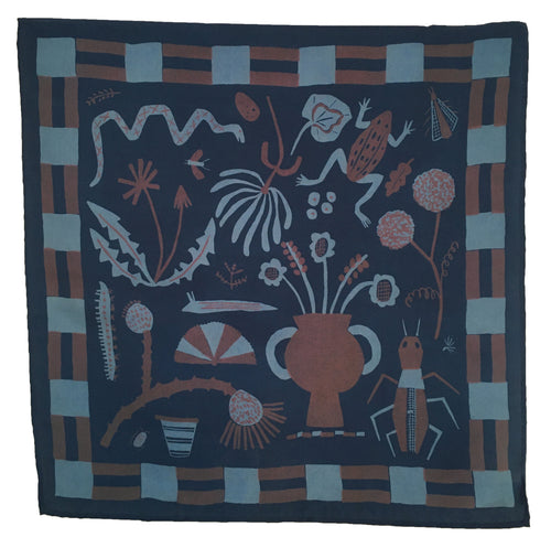 Field Notes Navy Silk Scarf