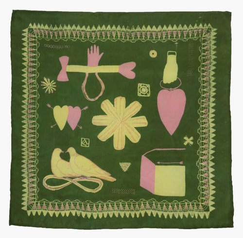 Green Love Token Handkerchief