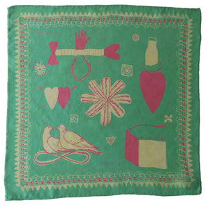 Mint Love Token Handkerchief