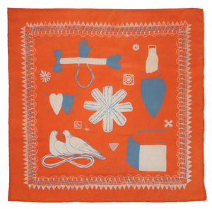 SECONDS Orange Love Token Handkerchief