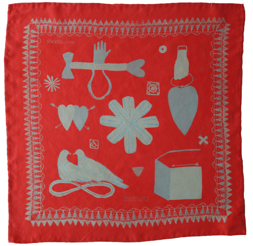 Red Love Token Handkerchief