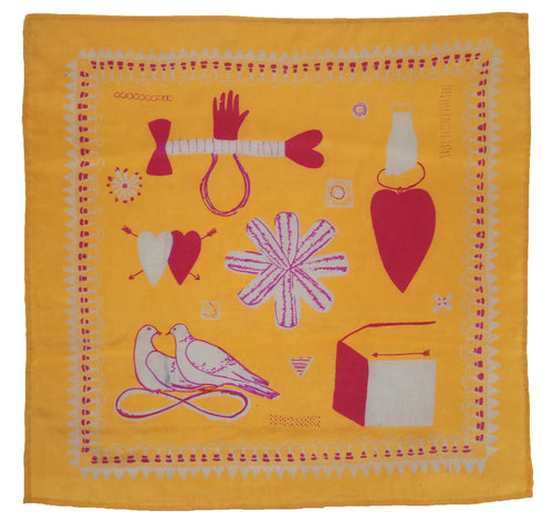 Yellow Love Token Handkerchief
