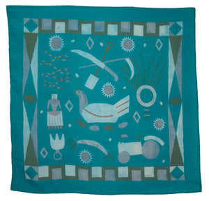 SECONDS Teal Rural Life Scarf