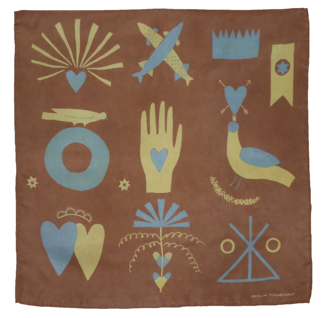 Heart-in-Hand Silk Scarf