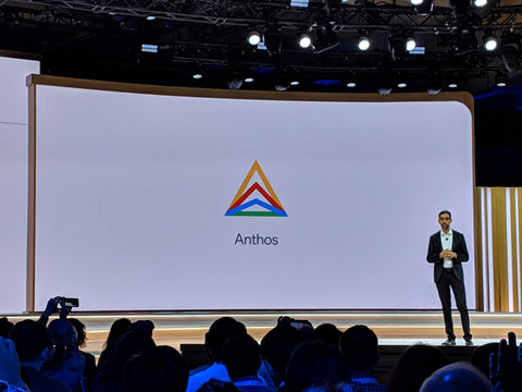 El CEO de Google presentando Anthos en Google Next 2019 en San Francisco - Yeswelab Blog