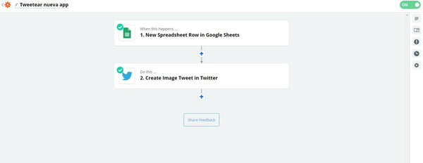 Unir un Google Sheet con un Tweet