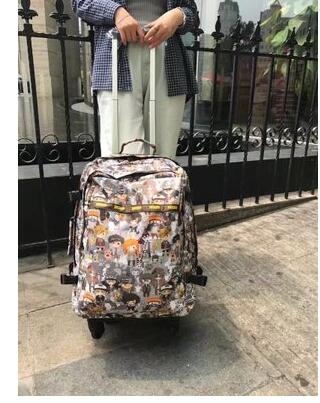 wheeled suitcase women travel trolley backpack luggage bags travel Backpack  bags Rolling luggage suitcase travel bag 79f3530dc6