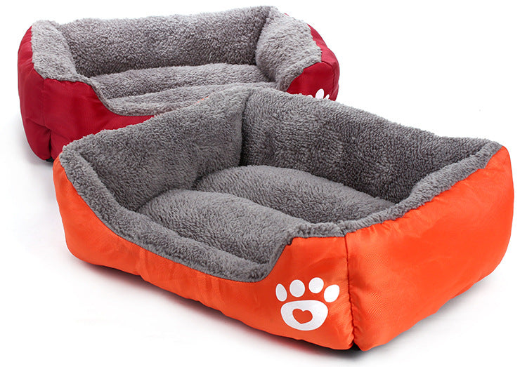 Nest Bed - soft fleece for Dog and Cat Lovin Little Greys - Red / S