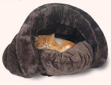 Load image into Gallery viewer, Warm and Soft Pet Cave Bed Lovin Little Greys -