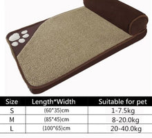 Load image into Gallery viewer, Large Pet Bed with pillow bolster Lovin Little Greys - Brown / L100x65cm