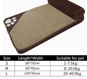 Large Pet Bed with pillow bolster Lovin Little Greys - Brown / L100x65cm