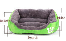 Load image into Gallery viewer, Nest Bed - soft fleece for Dog and Cat Lovin Little Greys - Green / S
