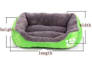 Nest Bed - soft fleece for Dog and Cat Lovin Little Greys - Green / S