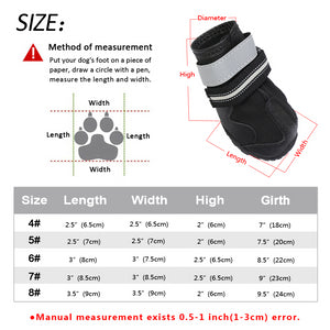 Reflective Weatherproof Dog Snowboots Lovin Little Greys -