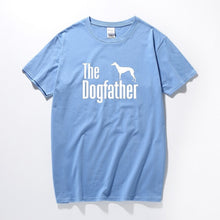 Load image into Gallery viewer, The Dogfather Greyhound Tee Lovin Little Greys - Sky blue / XS