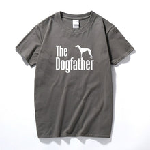 Load image into Gallery viewer, The Dogfather Greyhound Tee Lovin Little Greys - Dark Gray / S