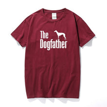 Load image into Gallery viewer, The Dogfather Greyhound Tee Lovin Little Greys - Burgundy / S