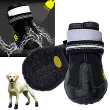 Load image into Gallery viewer, Reflective Weatherproof Dog Snowboots Lovin Little Greys -