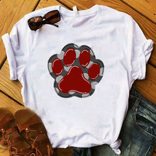 Load image into Gallery viewer, Paw Power Fashion Tee Lovin Little Greys - Paw / 3XL