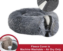 Load image into Gallery viewer, Luxury Calming Pet Bed with Removable Cover Lovin Little Greys -