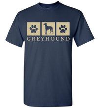 Load image into Gallery viewer, Summer Silhouette Greyhound Tee Lovin Little Greys - Navy / M