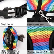 Load image into Gallery viewer, Rainbow Dog Harness Vest & Leash Lovin Little Greys -