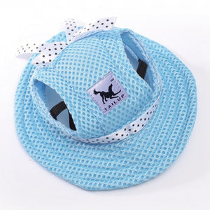 Summer Cotton Hat for Dogs Lovin Little Greys - Blue / M