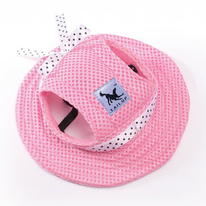 Summer Cotton Hat for Dogs Lovin Little Greys - Pink / M